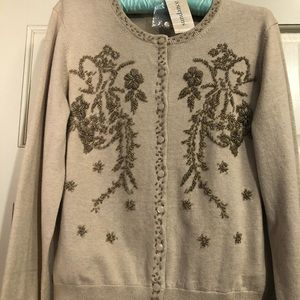 Beautiful hand beaded cardigan!  Sundance
